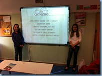 Παρουσίαση εργασιών με μορφή ηλεκτρονικών παρουσιάσεων (Power Point Presentations) από τους μαθητές/τριες της Ε' τάξης στην τάξη