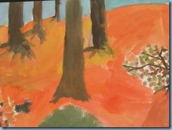 Δάσος. Ζωγραφική με τέμπερες, λαδοπαστέλ, ακουαρέλα (2)